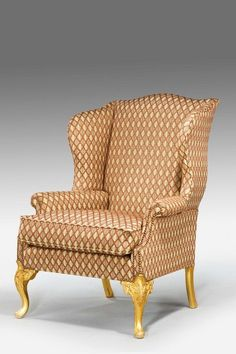 mid 18th century design gilt wood wing chair ref no windsor house antiques pinterest 18th century woods and sofa bench