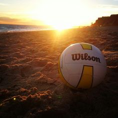 Money shot.  Image via We Heart It https://weheartit.com/entry/141417318 #amazing #beach #beauty #cliff #landscape #nature #sand #sea #sky #summer #sun #sunset #volleyball #wilson #beachvolleyball