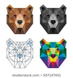 Discover recipes, home ideas, style inspiration and other ideas to try. Geometric Bear, Geometric Quilt, Geometric Drawing, Pop Art Drawing, Bear Drawing, Hand Embroidery Design Patterns, Mosaic Patterns, Animal Templates, Triangle Art