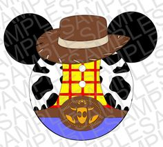 Toy Story Inspired Woody Mickey Ears SVG DXF by MissAddisonsCloset