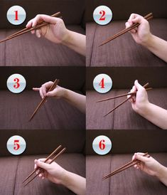Often foreigners in Japan are complimented on how they use chopsticks. Many, however, are not actually using them properly. Then again, neither are most Japanese people. Go figure. How To Hold Chopsticks, Using Chopsticks, Amazing Life Hacks, Useful Life Hacks, Speech Therapy Posters, Dinning Etiquette, Kitchen Essentials List, Okinawa, Flashcards For Kids