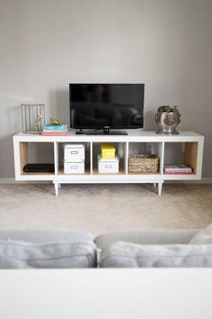 30 diy pour fabriquer son meuble tv - Meuble Tele Blanc Ikea