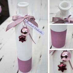vase mit passender deko verziert und fertig zum verschenken...