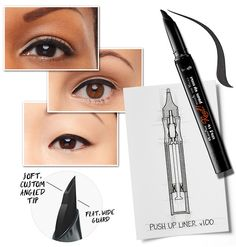 ZOOM IN: BENEFIT THEY'RE REAL! PUSH-UP LINER A gel liner pen that hugs your lashes?