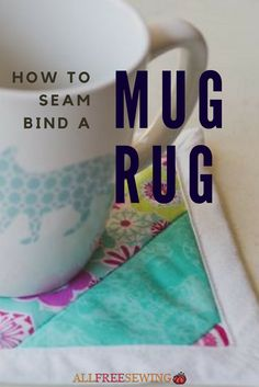 This mug rug pattern is binded with the backing fabric. It's a helpful sewing video tutorial you will love! Small Quilts, Easy Quilts, Mini Quilts, Small Rugs, Quilting For Beginners, Quilting Tutorials, Quilting Designs, Quilting Ideas, Mug Rug Patterns