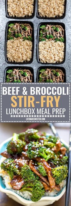 This Skinny Beef and Broccoli Stir-Fry makes the perfect easy weeknight dish full of authentic flavors. Best of all it's so easy to make with authentic flavors and way better than your favorite Chinese takeout restaurant. Great for Sunday meal prep and l Lunch Meal Prep, Meal Prep Bowls, Stir Fry Meal Prep, Easy Meal Prep, Sunday Meal Prep, Easy To Cook Meals, Stir Fry Meals, Meal Prep Freezer, Beef Stir Fry Healthy