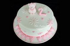 Pink and White Teddy Bear Cake | Flickr - Photo Sharing!