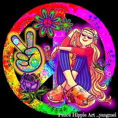 Peace and Love and me!!  Oh how I always wanted to be a hippy!!