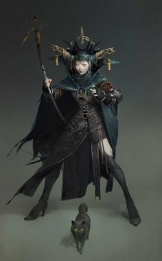 Random evil witch with her cat female character design, character reference, character concept, Character Design Cartoon, Fantasy Character Design, Character Design Inspiration, Character Concept, Character Art, Concept Art, Character Reference, Daily Inspiration, Dark Fantasy