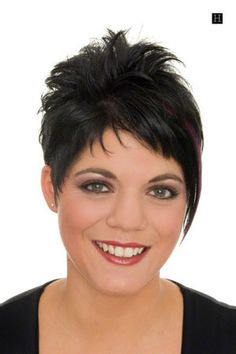 woman very short hairstyle brunette hair