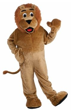 Adult Deluxe Mascot Lion Costume