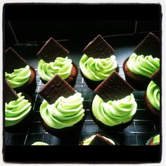 After Eight Cupcakes Coffee Mornings, Morning Coffee, Cup Cakes, Cupcake Cakes, Macmillan Coffee Morning, After Eight, Sweet Trees, Cupcake Ideas, Piece Of Cakes