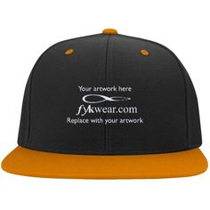 Embroidered Hats Flat Bill High-Profile Snapback Hat Retail price each 1-6 hats call for larger quantity pricing