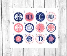 Circle Monogram Decal   Vinyl Decal   Personalized Gift   Yeti decal   Car Decal   Phone Decal   Yeti Rambler   Yeti Tumbler by southerlycharm on Etsy