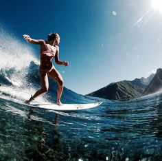 Surf :: Ride the Waves :: Free Spirit :: Gypsy Soul :: Eco Warrior :: Surf Girls :: Seek Adventure :: Summer Vibes :: Surfboard Design + Style :: Free your Wild :: See more Untamed Surfing Inspiration No Wave, Strong Female, Surf Mode, Sports Nautiques, Summer Goals, Surf Style, Surf Girls, Burton Snowboards, Surfs Up