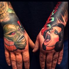 Image result for creature from the black lagoon tattoo