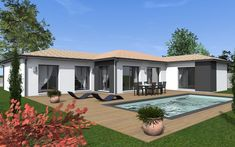 Awesome Plan De Maison Type Guadeloupe that you must know, You?re in good company if you?re looking for Plan De Maison Type Guadeloupe Style At Home, Bungalow Exterior, My House Plans, New Homes, Backyard, Cottage, House Design, Contemporary, Mansions