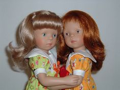 My sweet Sylvia Natterer Dolls (re-dressed).  These two were produced by the White Balloon Company in Spain.