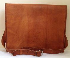 New Genuine Leather Brown Messenger Bag
