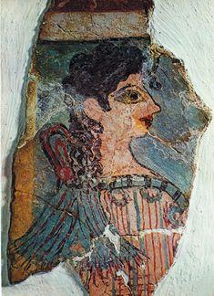 Так называемая «Парижанка» (фрагмент фрески кносского дворца). XVI в до н. э. Музей археологии. Ираклион. Крит