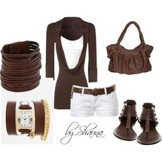 brown leathers and white shorts