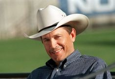 George Strait during a 2001 press conference for all performers in the George Strait Country Music Festival.
