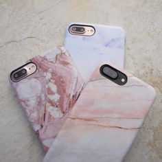 Stacked Rose Marble, Smoked Coral & Northern Lights Case for iPhone Shop Cases for iPhone 6/6s, 6 Plus/6s Plus, 7 & 7 Plus from Elemental Cases