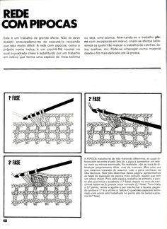 Tudo de Bom: Crochê filê - Rede com ponto pipoca