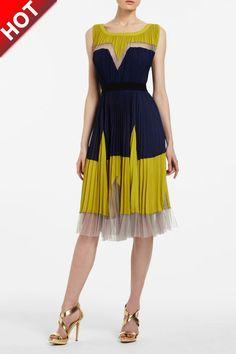 max azria bcbg leopard evening gown | BCBG Max Azria Lucea Color-blocked Dress On Sale [BCBG Color-blocked ...