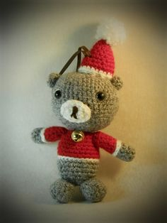crochet amigurumi Christmas teddy bear Christmas by WiseFriday