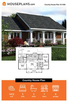 Want a cozy house with country features? Check out this country style home! Questions? Call 1-800-913-2350 today. #blog #architecture #modern #bungalow #architect #architecture #buildingdesign #country #craftsman #houseplan #homeplan #house #home #homeblog Country Style House Plans, Country Style Homes, Modern Bungalow, Modern Farmhouse Kitchens, Cozy Living Rooms, Cozy House, Wyoming, Building Design, Great Rooms