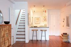Interior paint breakfast bar, kitchen and hardwood floors #Paintbooker