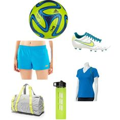 """""""soccer outfit"""" by shelby normand on Polyvore Please check my other boards"""