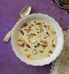 budino di riso - con noci e pistacchi