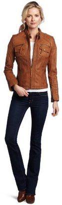 ShopStyle: MICHAEL Michael Kors Women's Zip Front Leather Jacket