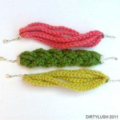 Simple crochet bracelets
