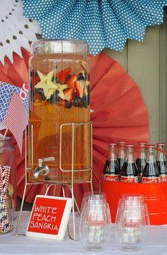 4th of July Party via Kara's Party Ideas #outdoor #patriotic #July #4th (18)