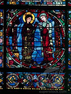 chartres cathedral stained glass   ... - Chartres Cathedral Stained Glass Window Chartres Cathedral, France