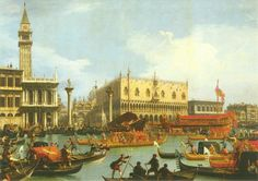 Return of the Bucintoro to the Molo on Ascension Day, Venezia (Canaletto, 1729–32)