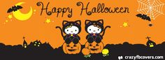 Hello Kitty Happy Halloween Facebook Cover - Facebook Timeline Cover Photo - Fb Cover