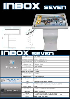 INBOX seven pupitre, borne tactile interactive