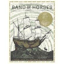 Band of Horses Poster at Gather, Cary, NC