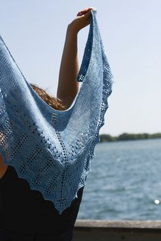 Ravelry: Surfacing pattern by Glenna C. Easy Knitting Patterns, Shawl Patterns, Knitting Designs, Summer Knitting, Lace Knitting, Knit Crochet, Crochet Shawl, Ravelry, Wrap Pattern