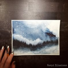 Illusion Art, Art Crafts, Night Skies, Watercolor Art, Illusions, Promotion, Doodles, My Arts, Polaroid Film