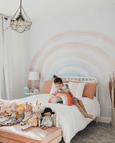 Elsi Rainbow Wallpaper – little girl rooms Teen Girl Bedrooms, Little Girl Rooms, Rainbow Girls Bedroom, Girl Toddler Bedroom, Baby Bedroom, Girl Kids Room, Child Room, Toddler Rooms, Kids Bedroom Ideas For Girls Toddler