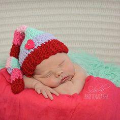 Crochet Baby Valentine's Day Striped Knot Beanie Hat Infant Newborn Baby Toddler Handmade Photography Photo Prop Baby Shower Gift Present