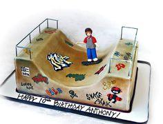 Stacey's Sweet Shop - Truly Custom Cakery, LLC: Skateboarding Birthday Cake