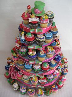 alice-in-wonderland-cupcake-tower.jpg | Flickr - Photo Sharing!