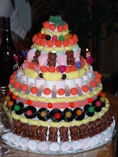 Construction d'un gâteau de bonbons pour un anniversaire coin-coin !!!, Recette par Si j'y arrive, pourquoi pas vous... - Ptitchef
