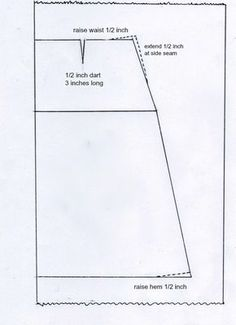 Drafting an a-line skirt